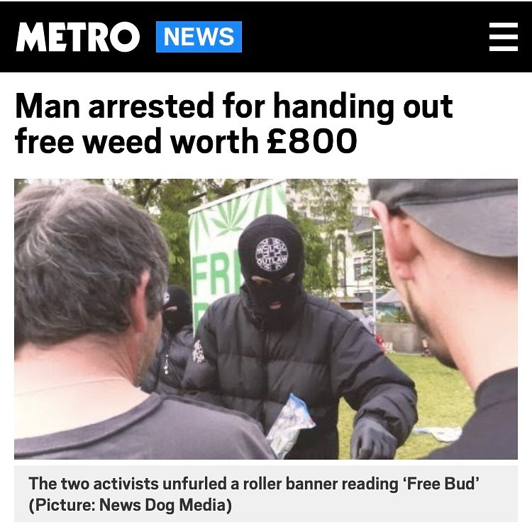 uomo mascherato Cannabis