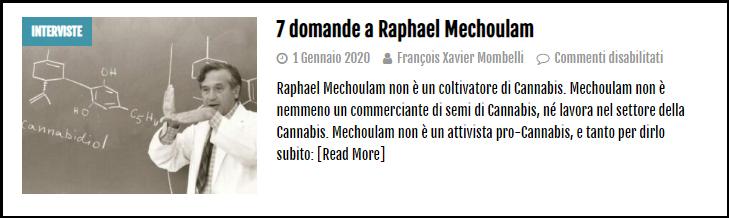 Cannabis Raphael Mechoulam